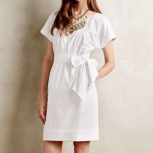 Anthropologie HD in Paris Ribboned Poplin Dress